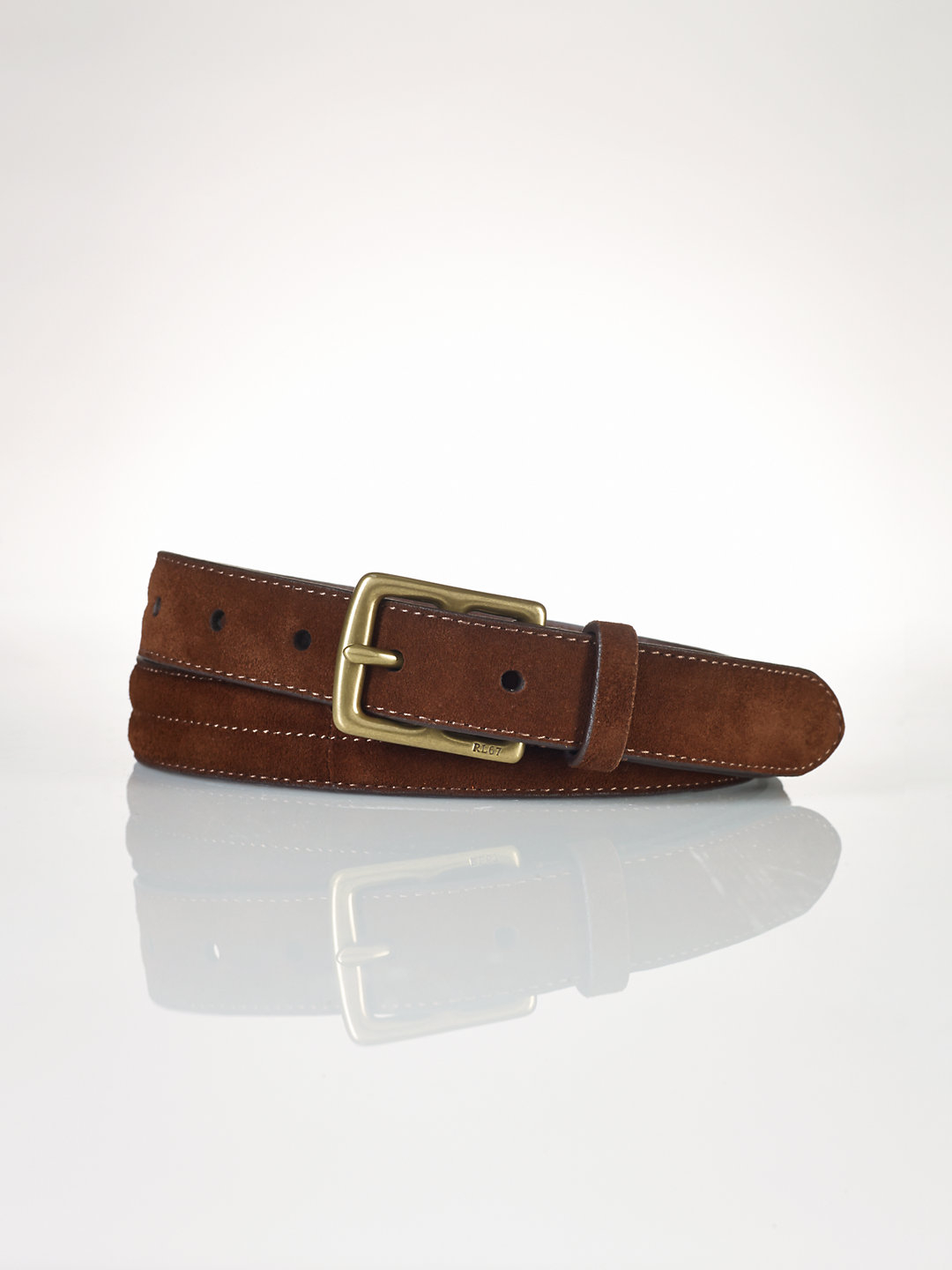 polo ralph suede belt in brown for lyst