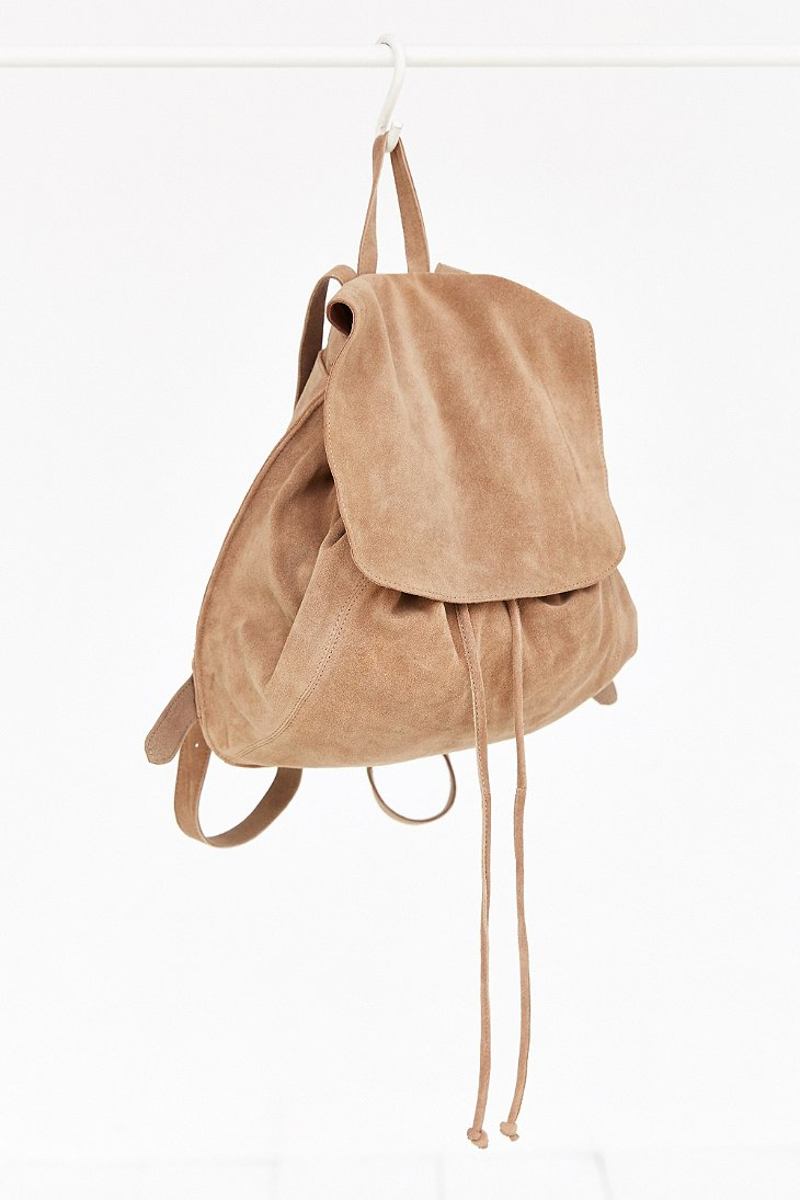 23bbfc0471 Lyst - Ecote Suede Flap Mini Backpack in Brown