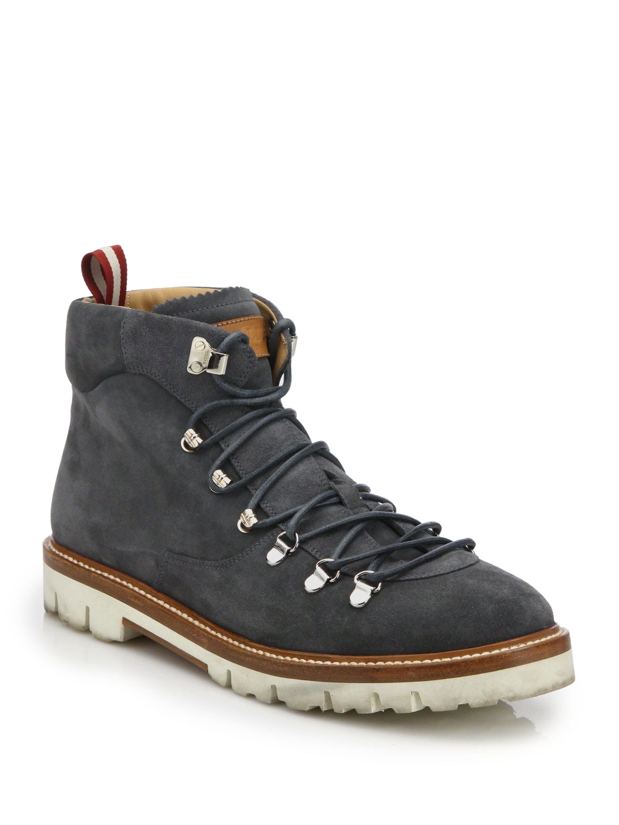 Lyst Bally J Cole For Suede Hiking Boots In Gray For Men