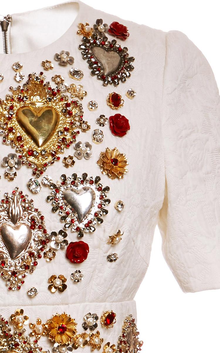 Dolce Amp Gabbana Sacred Heart Embellished Short Sleeve