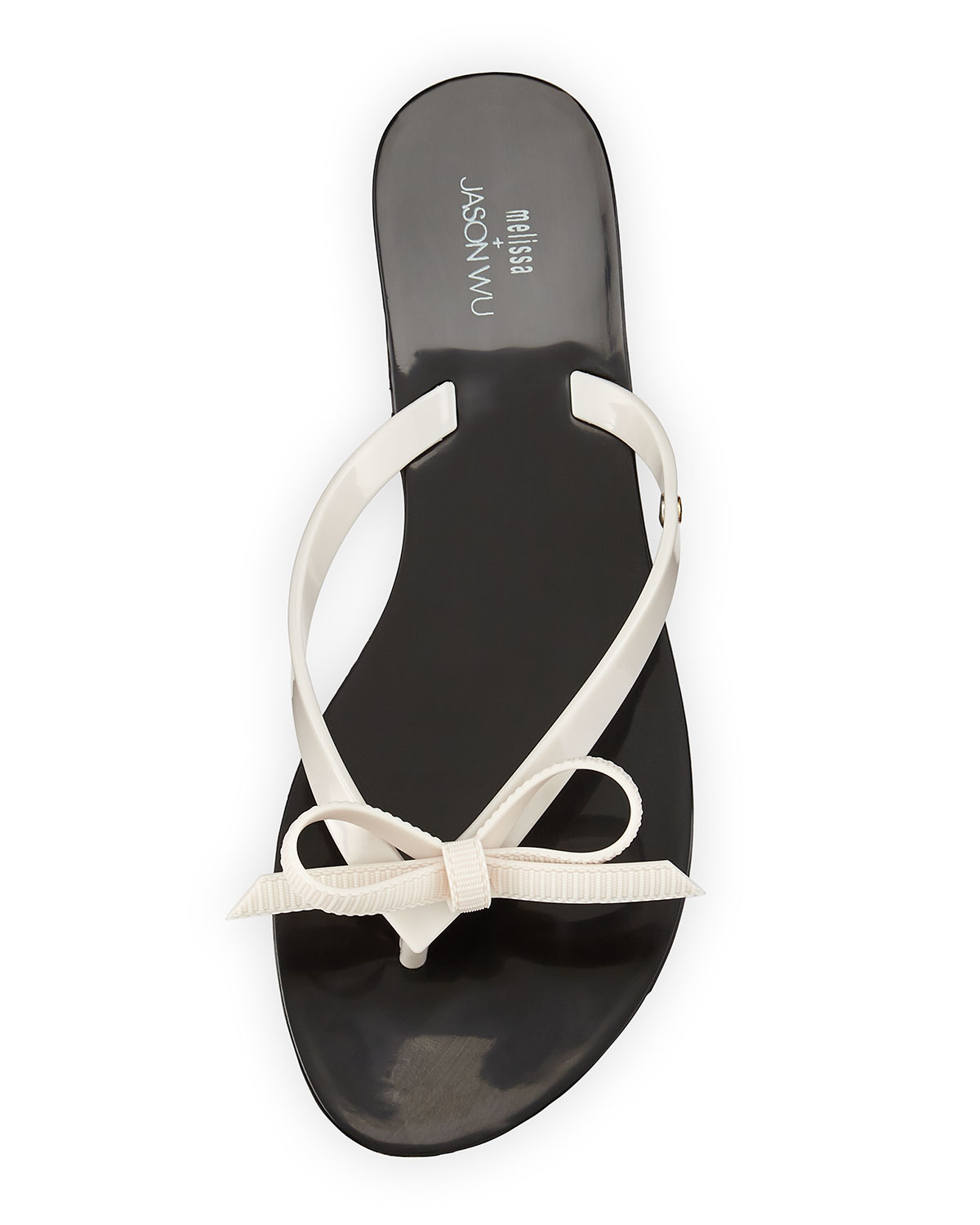 cdc42f3d11140 Lyst - Melissa Harmonic Bow Jelly Thong Sandal in White