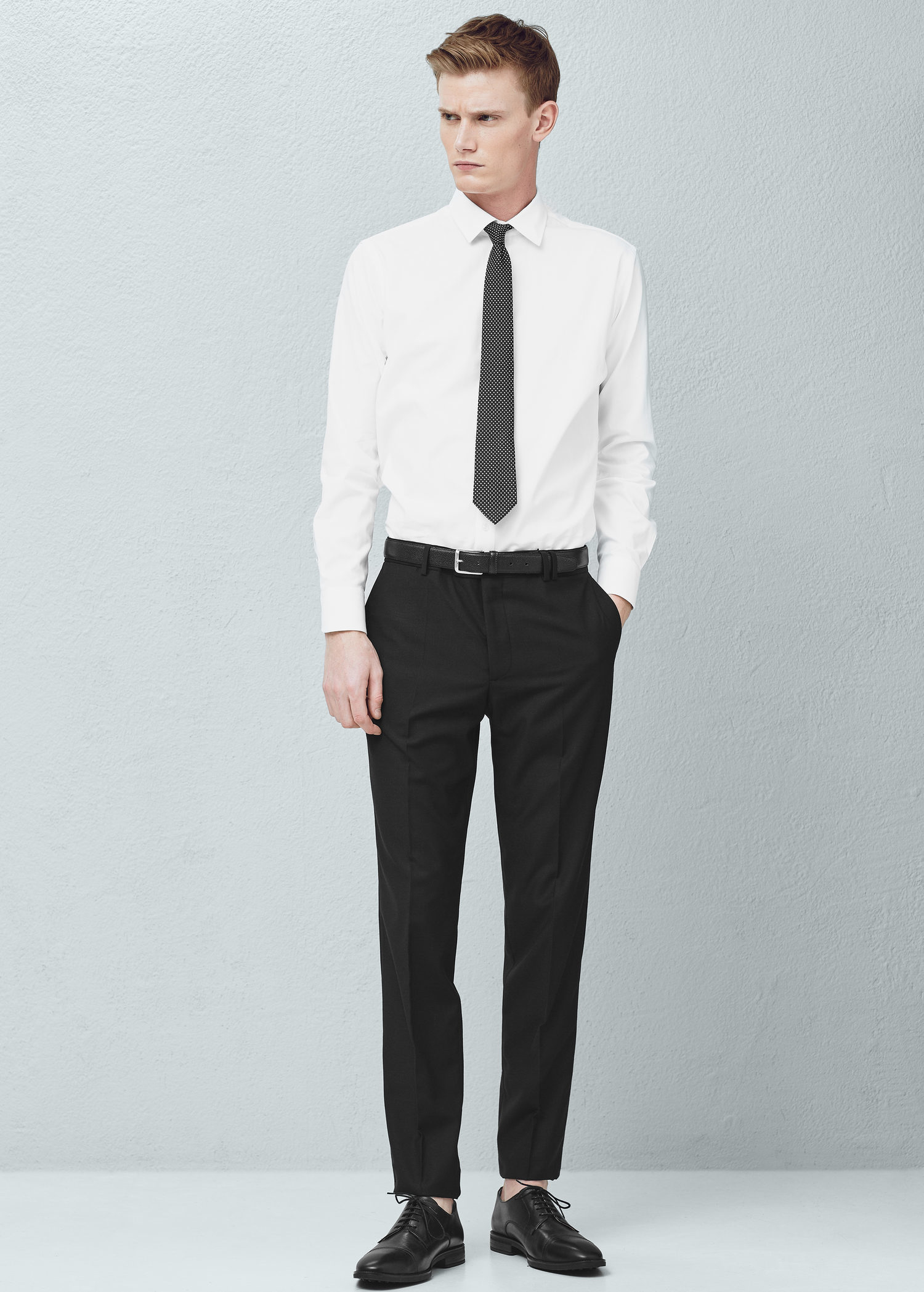 Mango Slim-fit Suit Trousers in Black for Men | Lyst