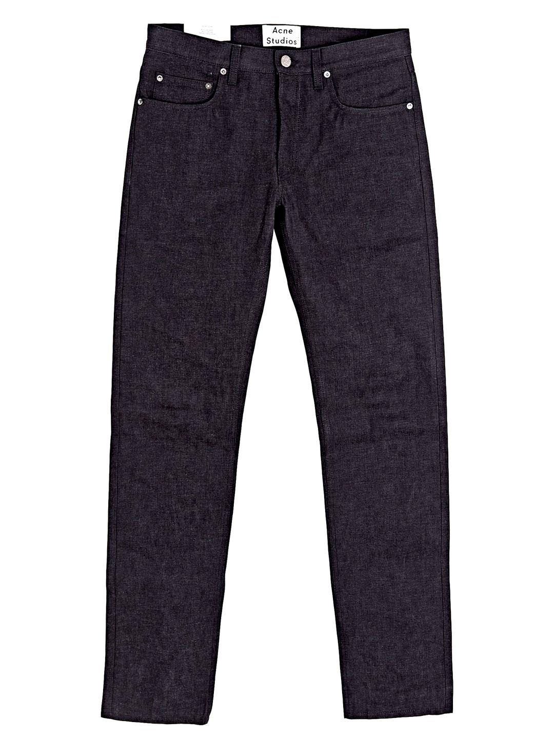 Acne Studios Denim Nolan Raw Jeans in Black for Men