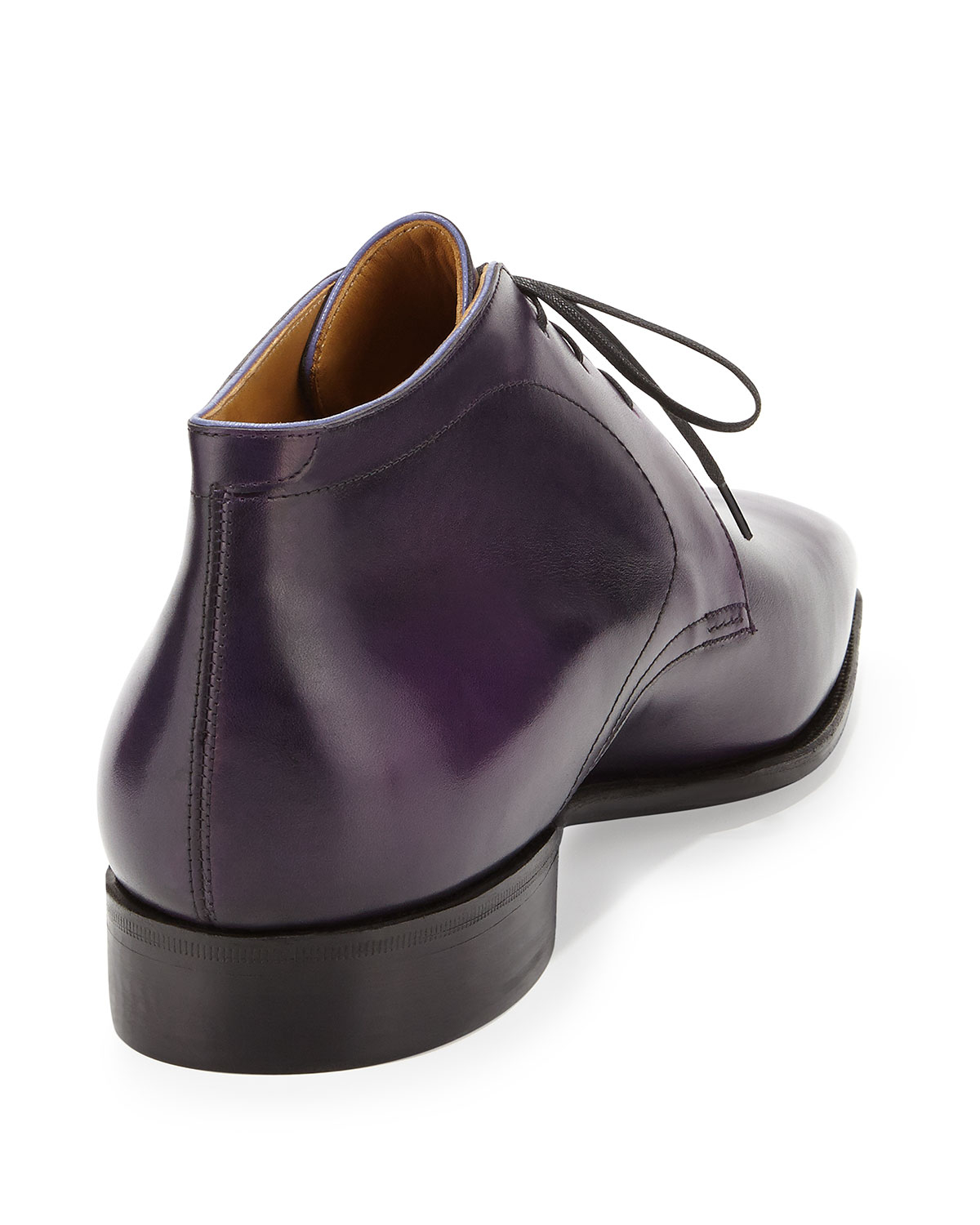 Corthay Dress Leather Chukka Boot In Purple For Men Lyst