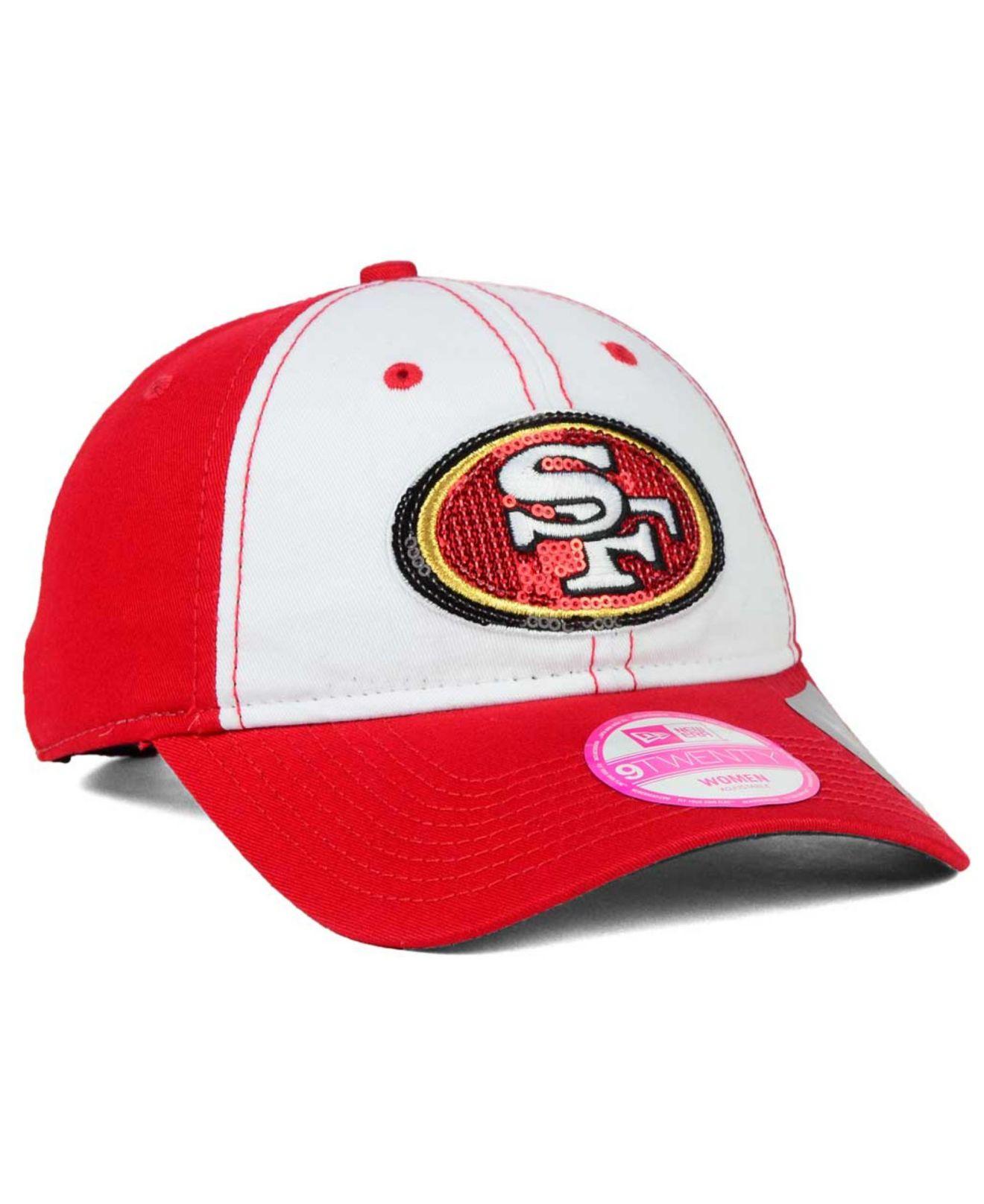 detailed look 17557 f038d Lyst - Ktz Women s San Francisco 49ers Team Glimmer 9twenty Cap in Red