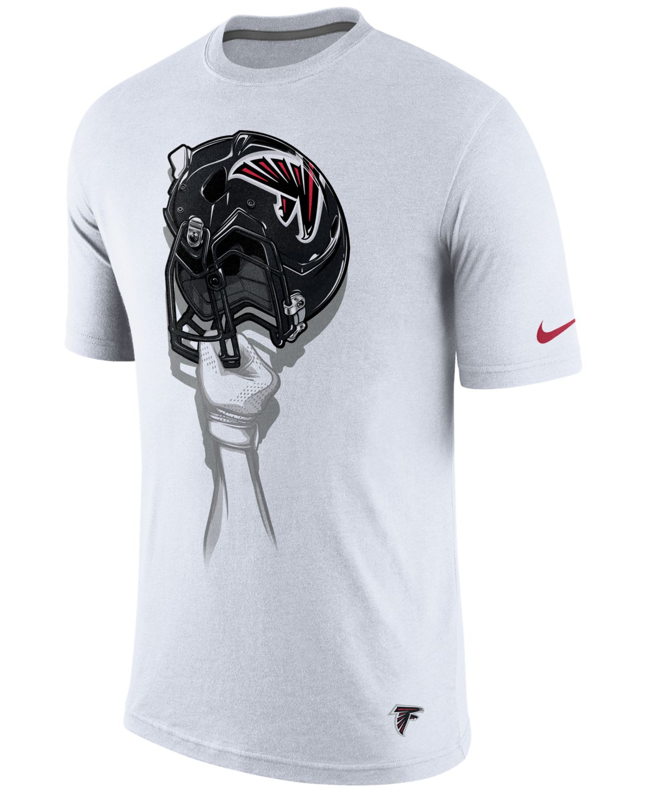 ... Nike Mens Atlanta Falcons Helmet T-shirt in White for Men ... 8d279774d