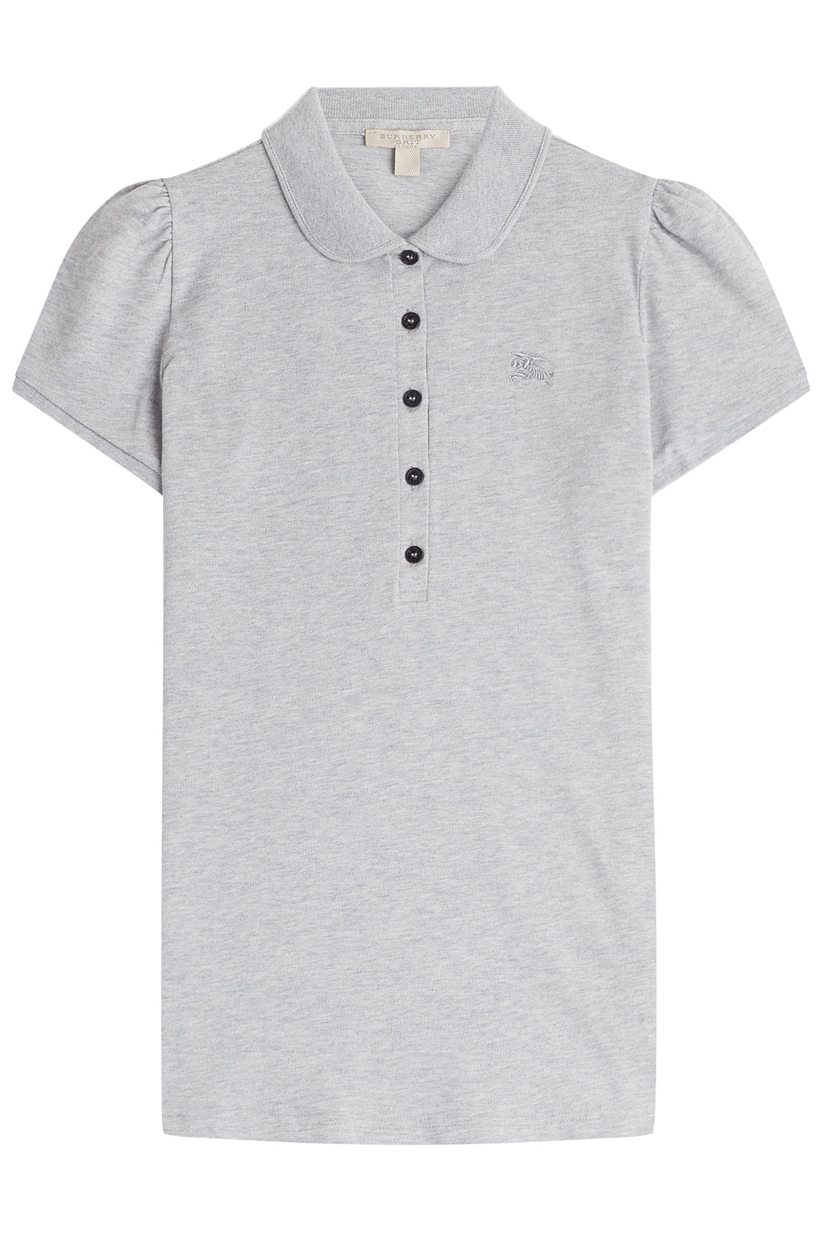 Burberry Brit Cotton Polo Shirt Grey In Gray Lyst