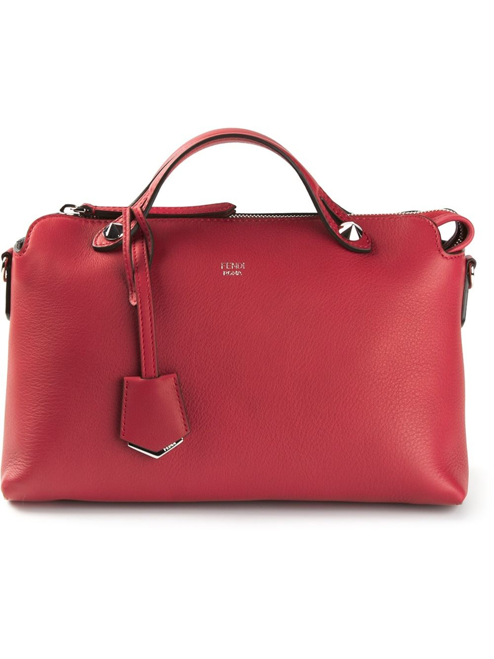 ... wholesale lyst fendi by the way leather shoulder bag in red d1ee8 823e8 0a4db1e58beda