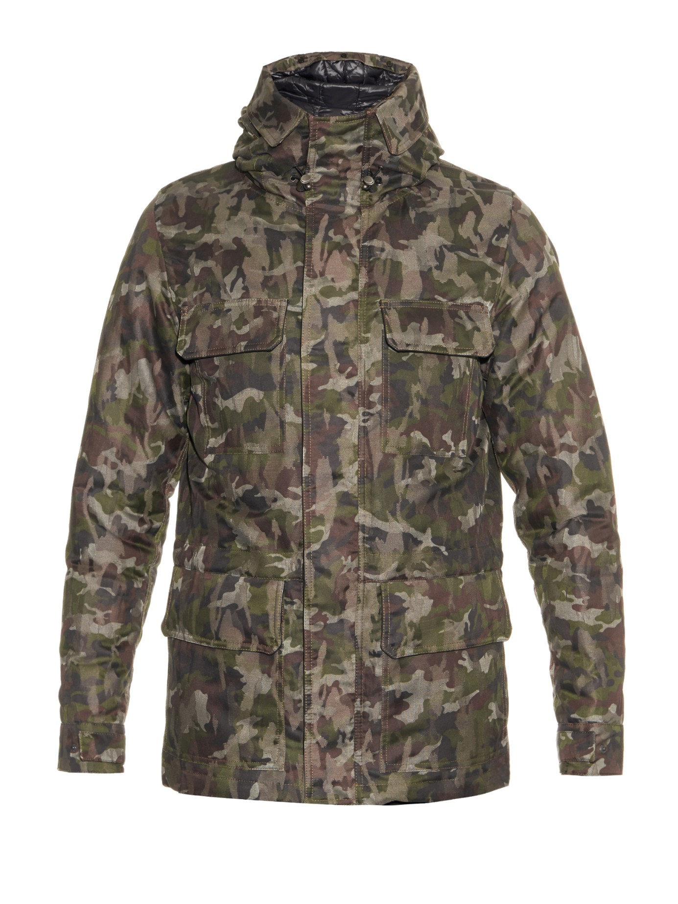 lyst dolce gabbana camouflage jacquard field jacket in green for men. Black Bedroom Furniture Sets. Home Design Ideas