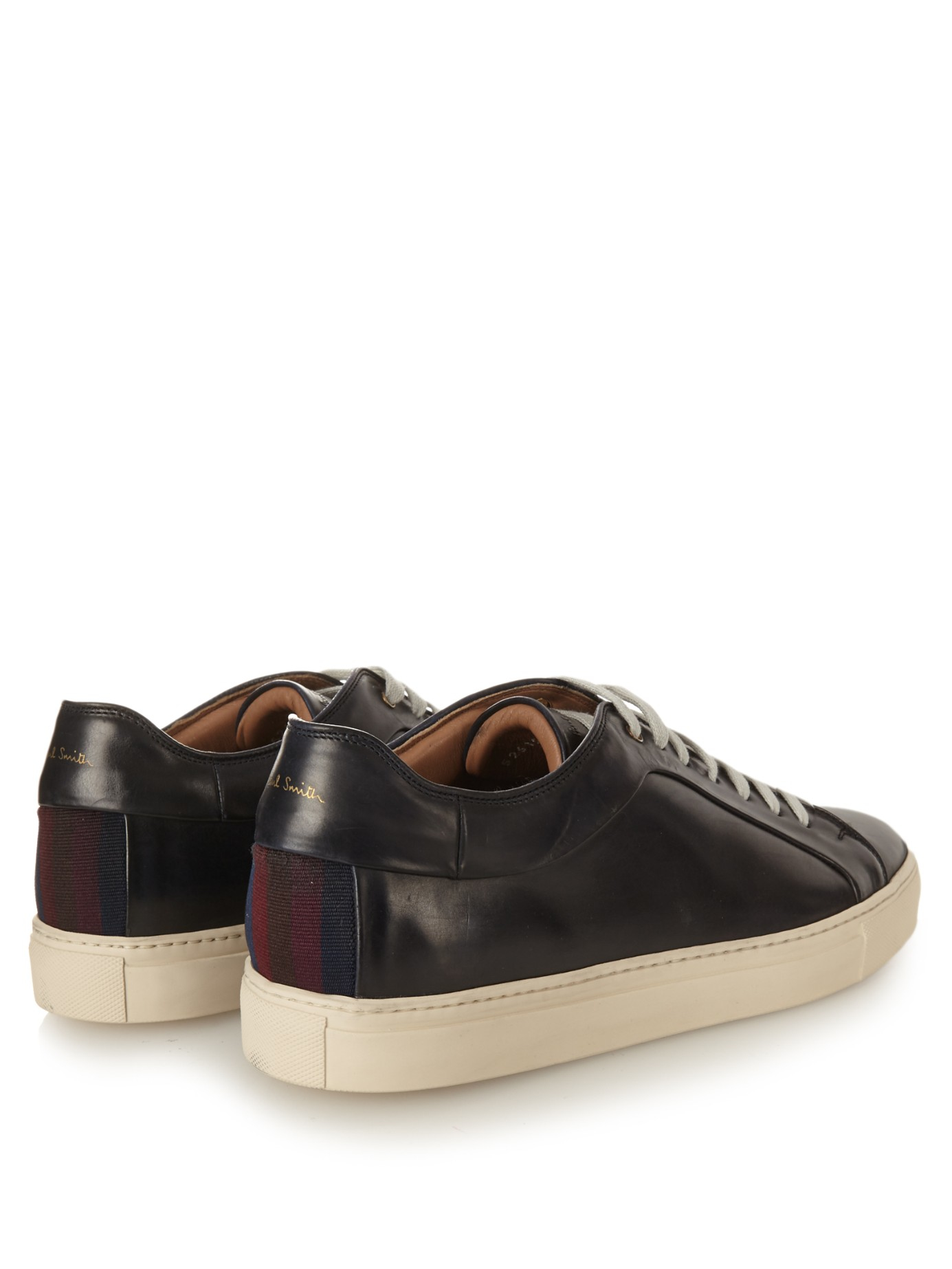 Paul Smith Nastro Striped-back Low-top Leather Trainers in Navy (Blue) for Men