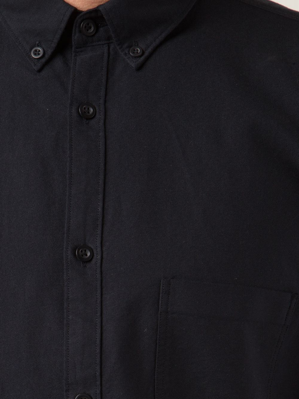 Zanerobe Classic Button Down Shirt In Black For Men Lyst