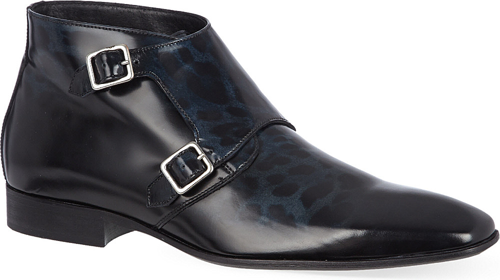 f4a5ea07dff KG by Kurt Geiger Pakenham Ankle Boots - For Men, Blk/Blue for men