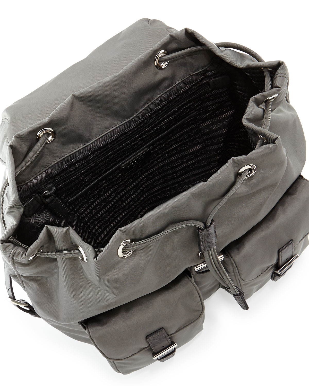 Prada Vela Medium Backpack in Gray for Men (Gray (Ardesia)) | Lyst