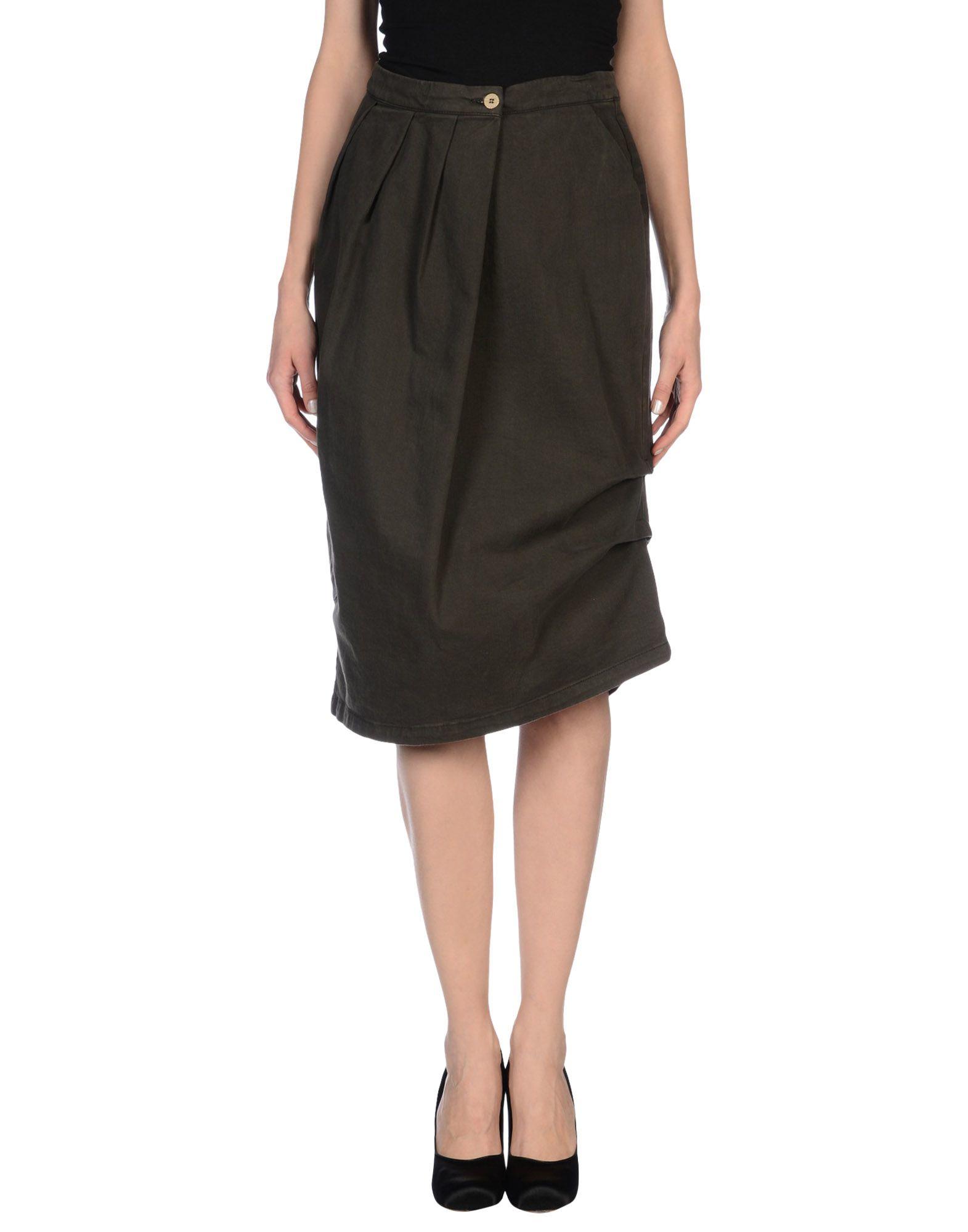 manila grace denim skirt in green lyst