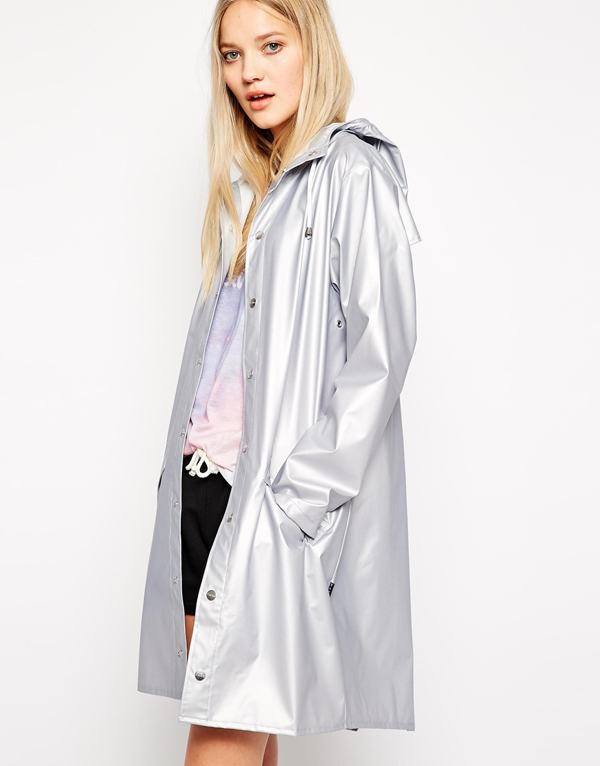 Lyst - Rains Limited Edition Jacket in Metallic d24d7fa520