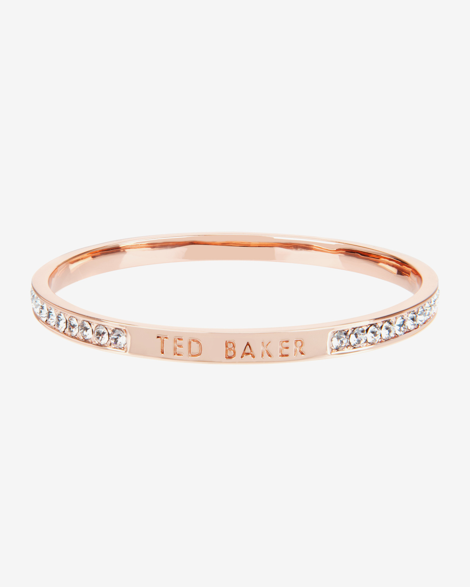 best sale buy cheap to buy Ted Baker Crystal Bangle in Metallic - Lyst