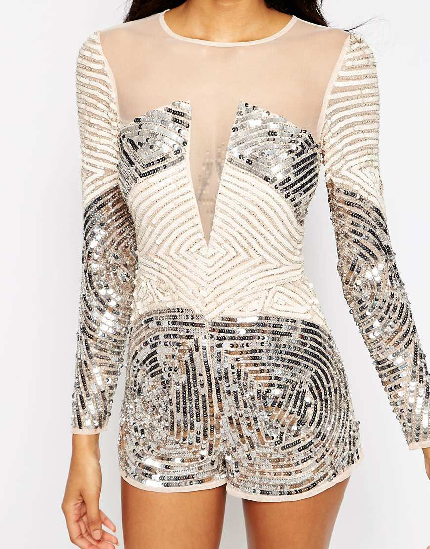 b5c185d49b4 Lyst asos heavily embellished occasion playsuit jpg 870x1110 Asos playsuit  with embellishment
