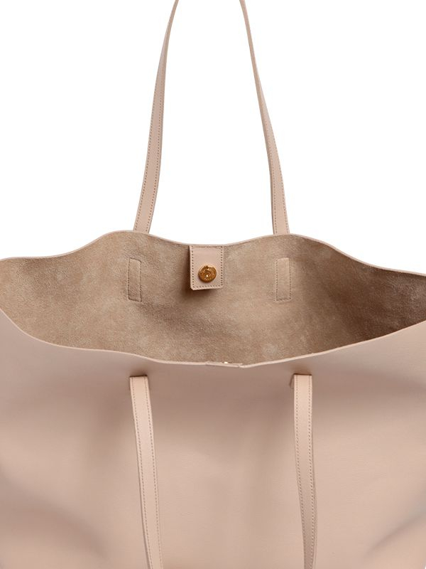 5054753d166 Saint Laurent Soft Leather Tote Bag in Natural - Lyst
