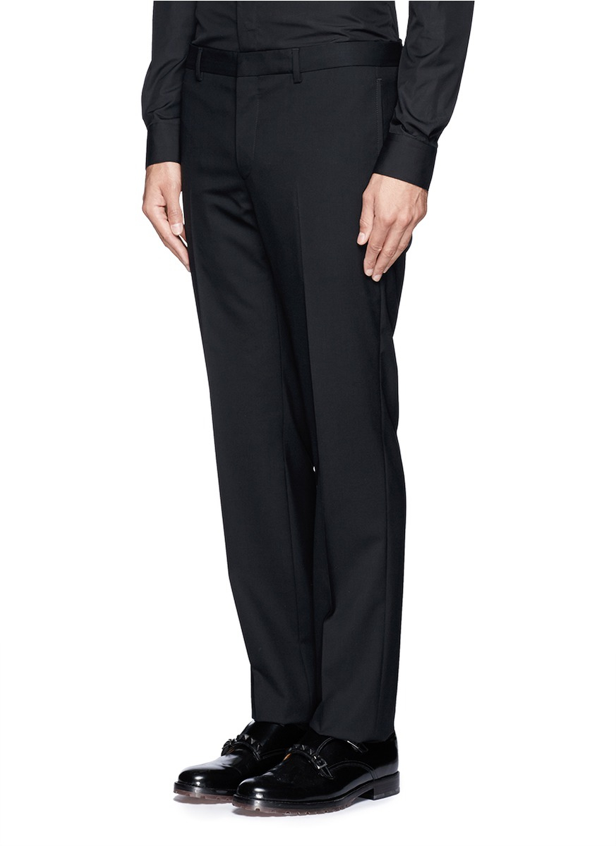 Givenchy Slim Fit Wool Suit in Black for Men
