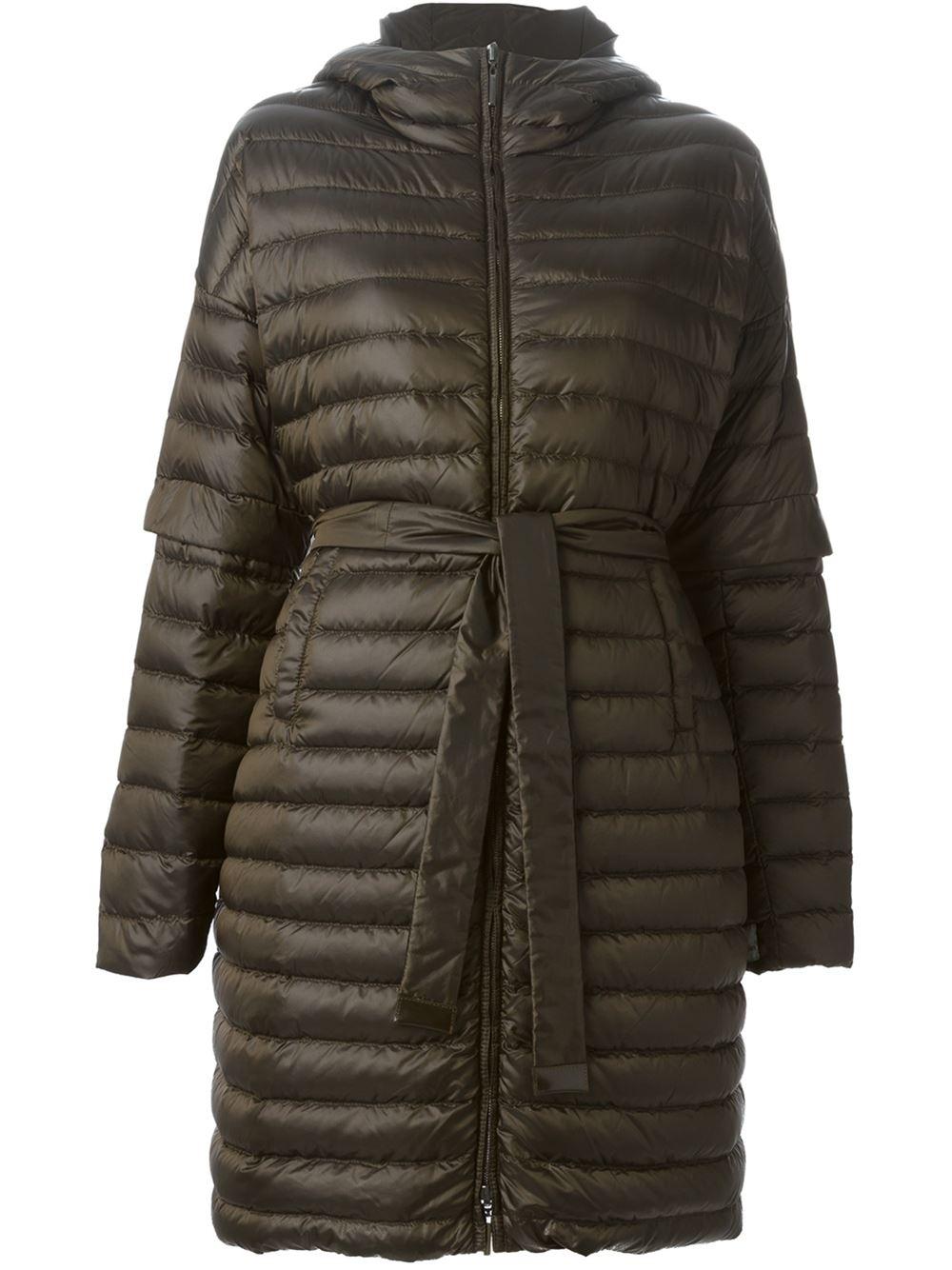 s max mara Padded Coat in Brown | Lyst