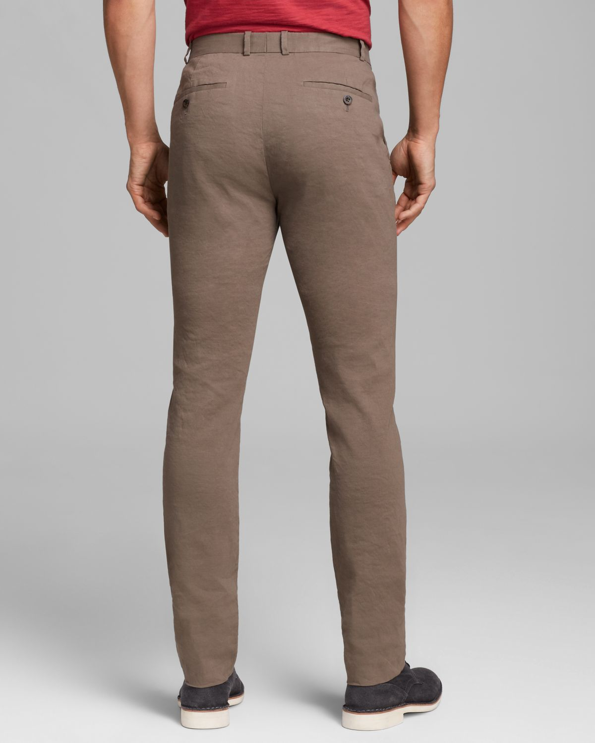 Elie tahari Bennet Stretch Linen Pants in Natural for Men | Lyst