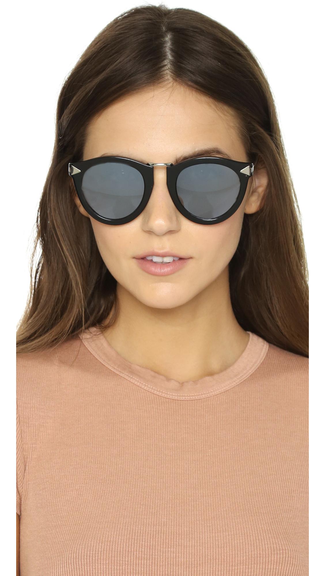 e6deda34676 Lyst - Karen Walker Superstars Harvest Sunglasses in Black