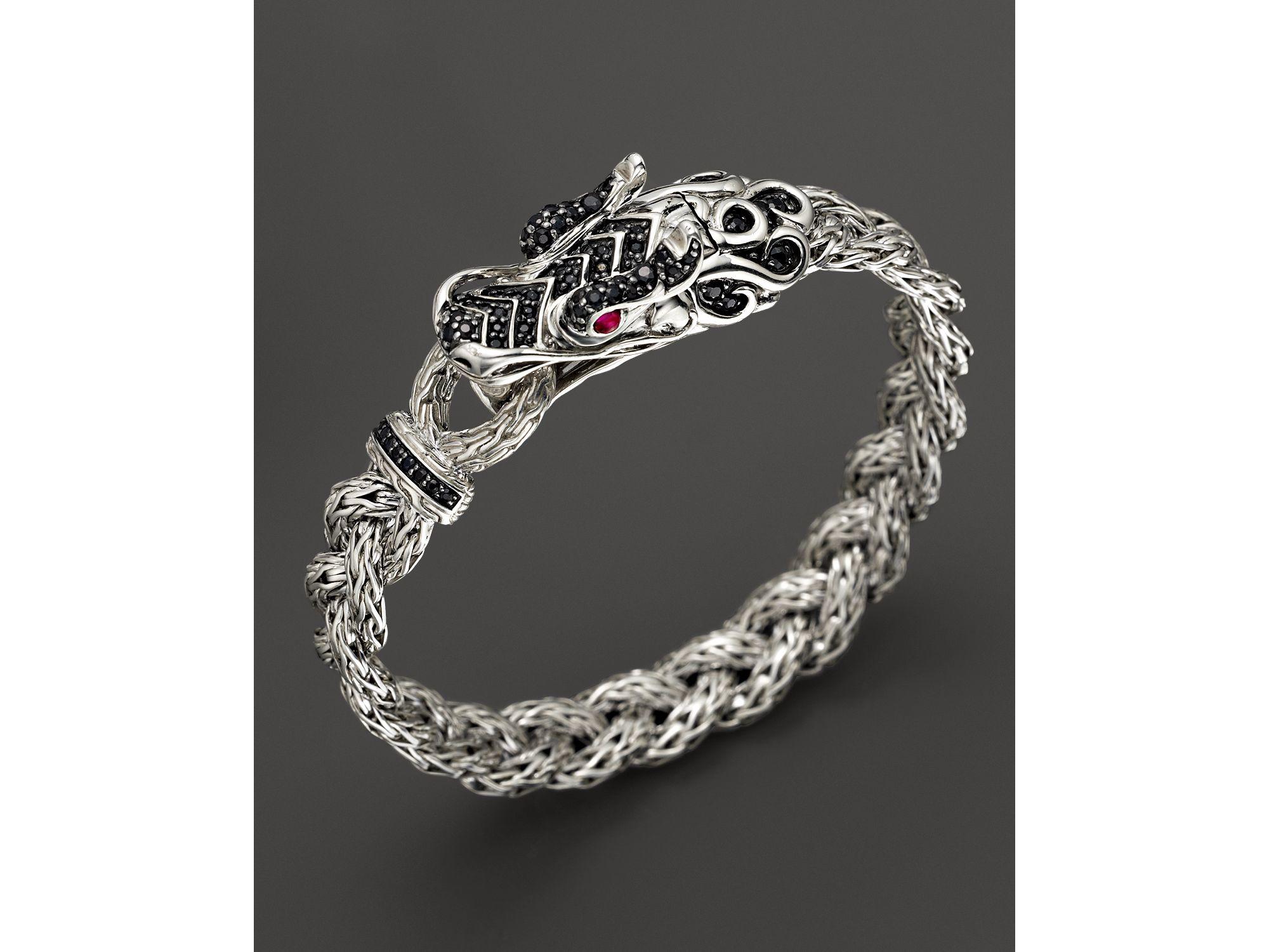 John Hardy Sterling Silver Naga Small Braided Chain Dragon