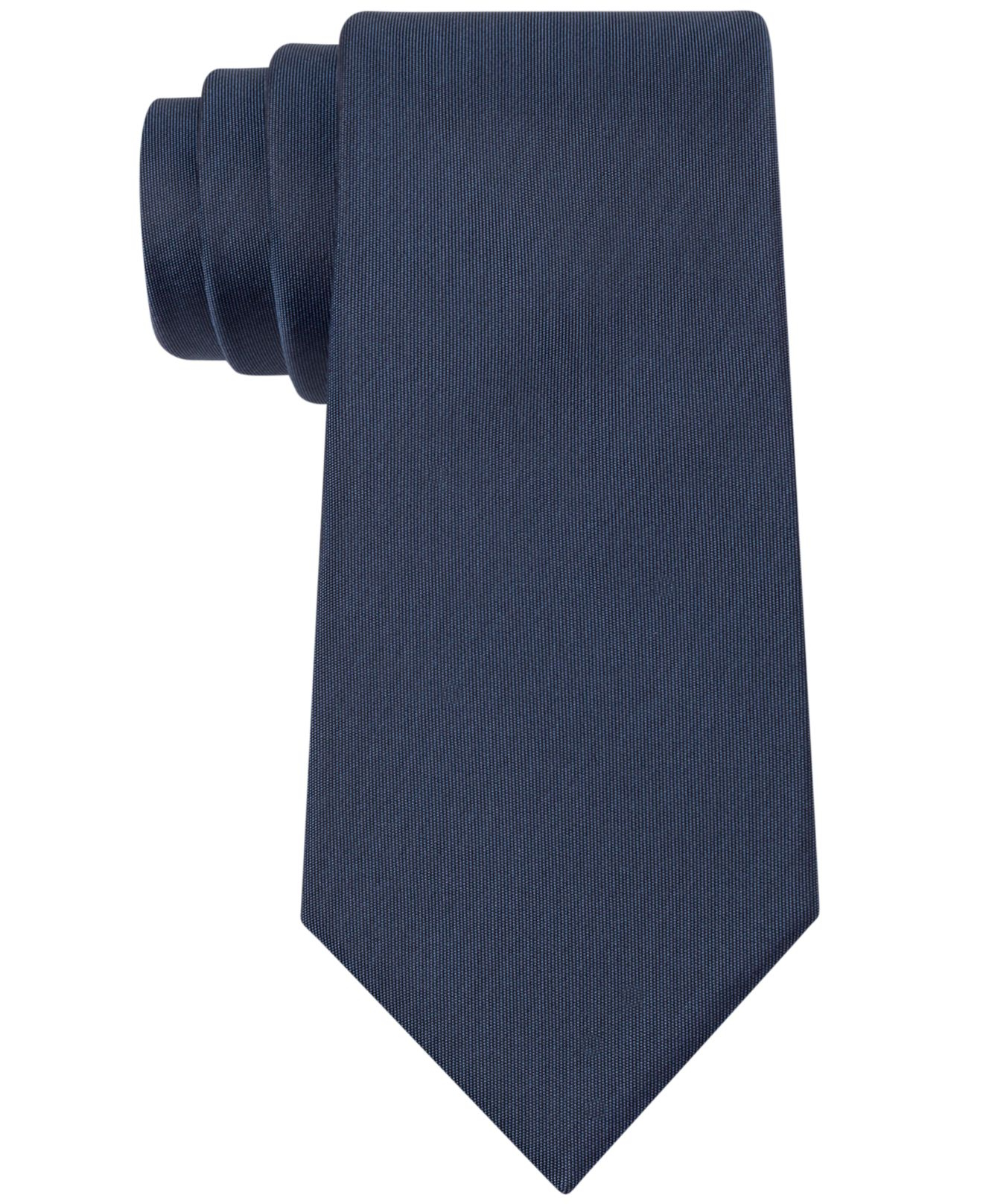 kenneth cole reaction solid slim tie in blue for lyst