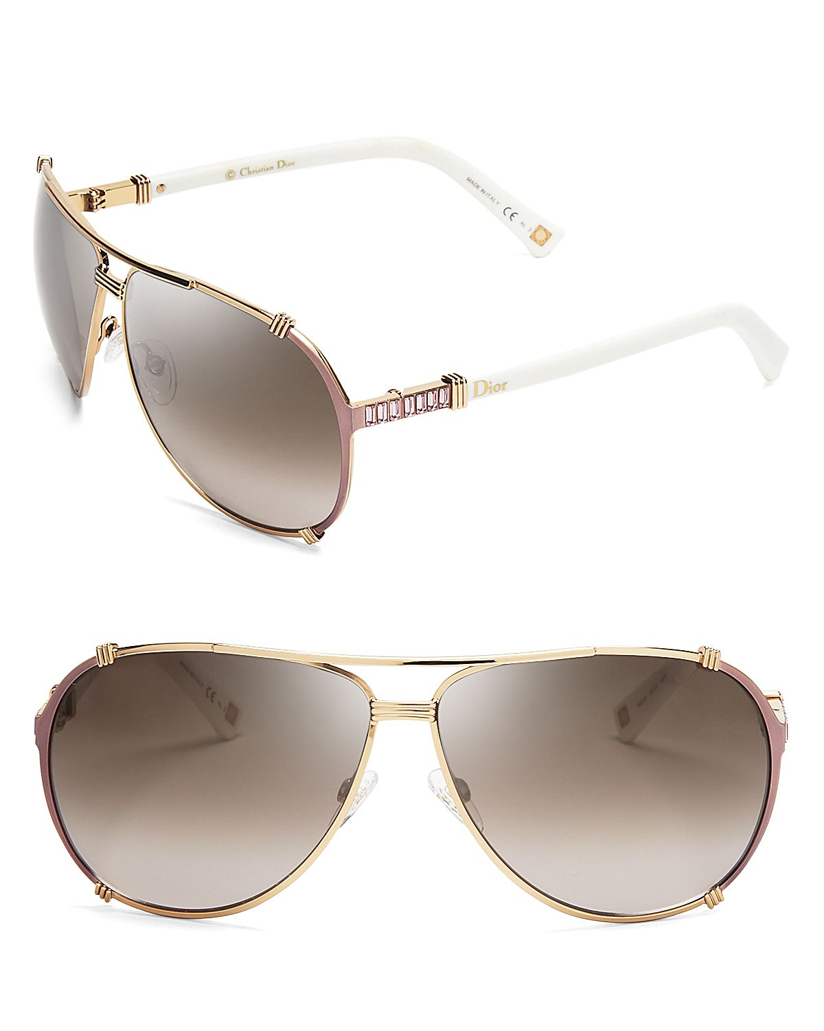 Dior Gold Frame Sunglasses : Dior Chicago 2 Aviator Sunglasses in Gold (Gold/Brown ...