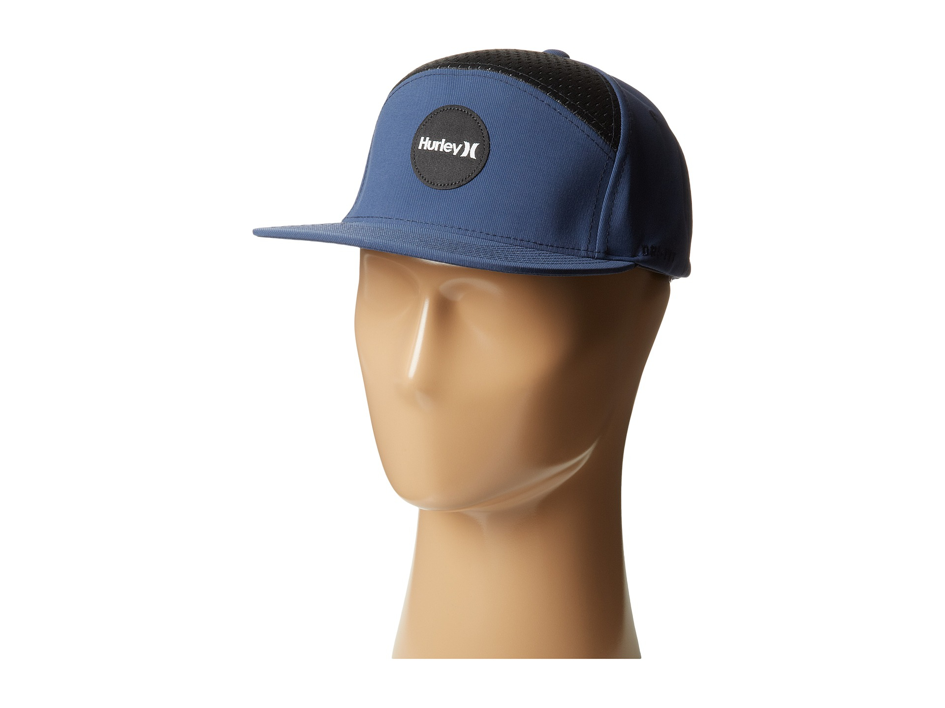 44ae0429408 ... shopping lyst hurley draft 6 panel hat in blue for men e8933 4540f