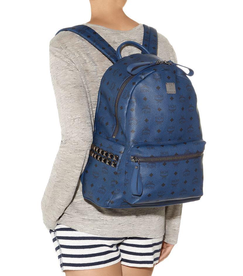 mcm medium stark backpack in blue lyst. Black Bedroom Furniture Sets. Home Design Ideas