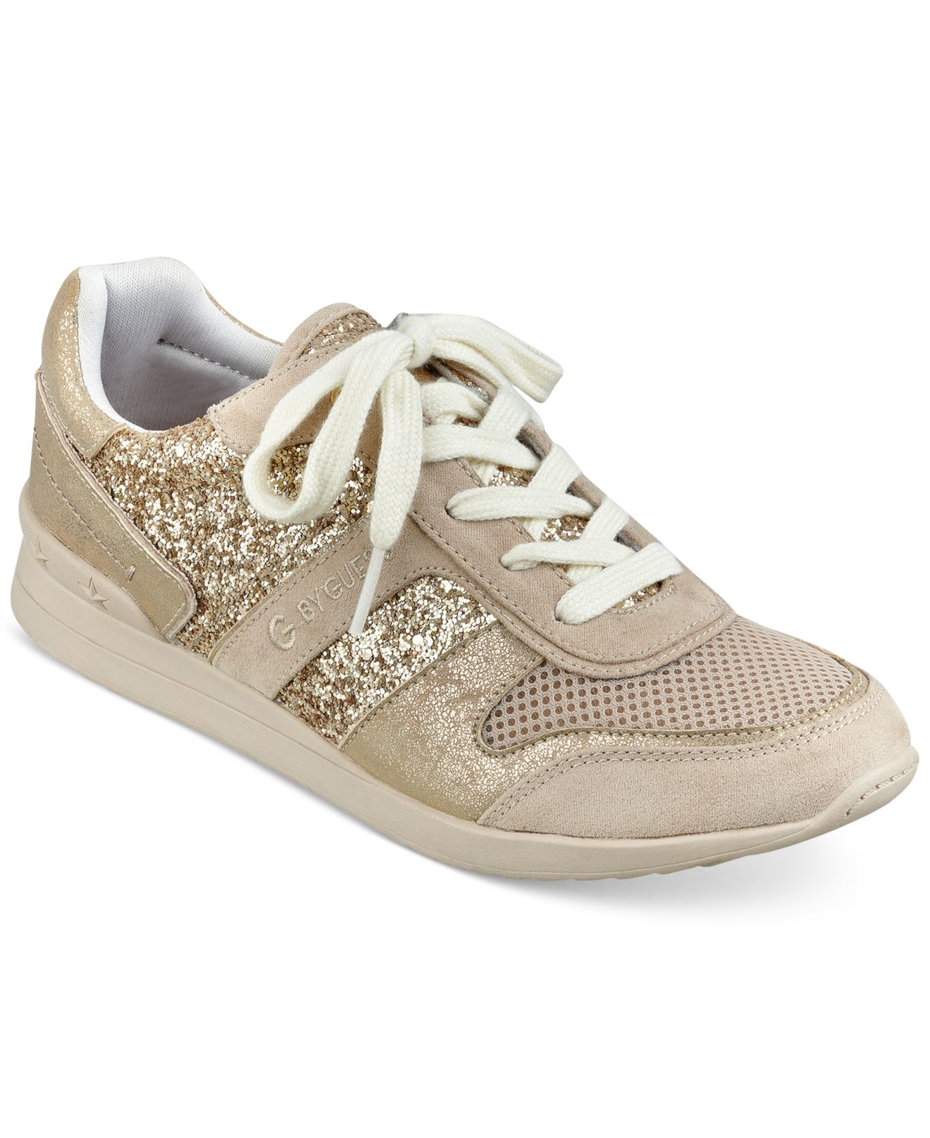 G by guess Fax Jogger Sneakers in Brown   Lyst
