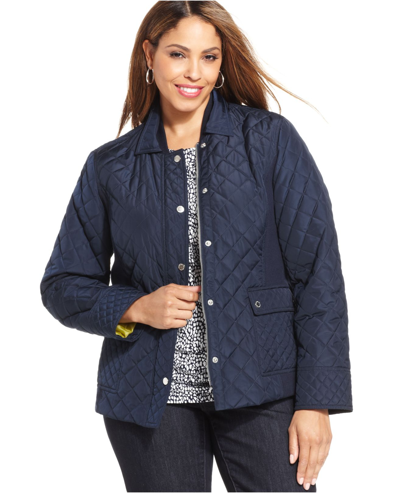 Signature Plus Size Quilted Jacket