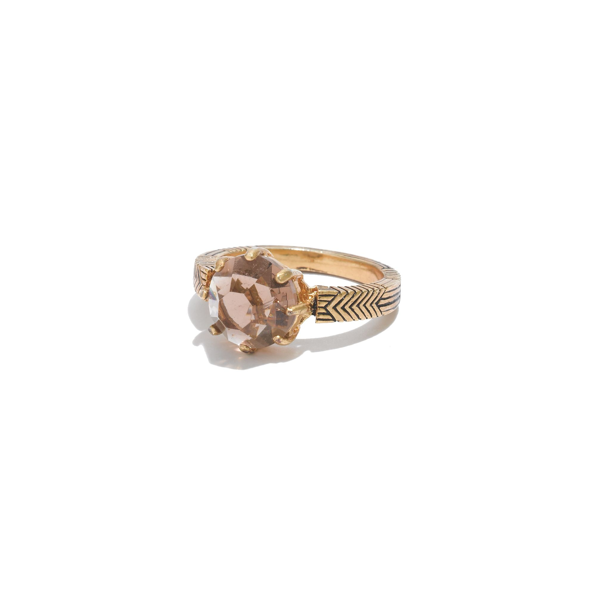 Madewell Smokestone Ring in Vintage Gold (Metallic)
