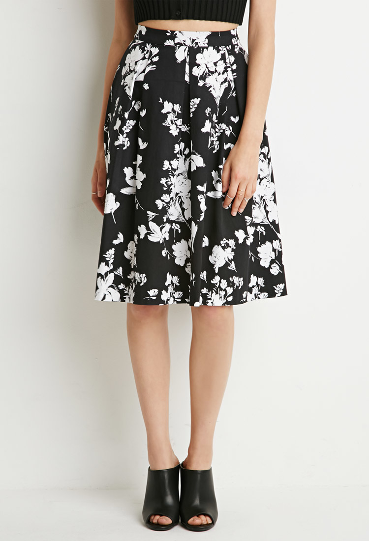 Forever 21 Floral A-line Skirt | Lyst