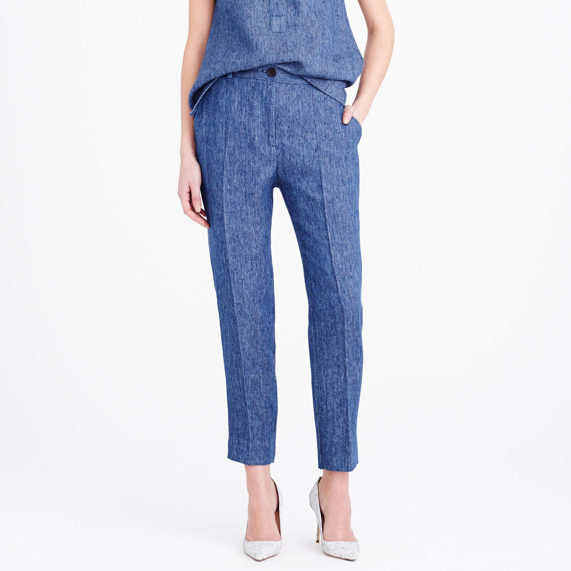 204b7aff9e J.Crew Collection Women's Ludlow Pant In Italian Linen Chambray in ...
