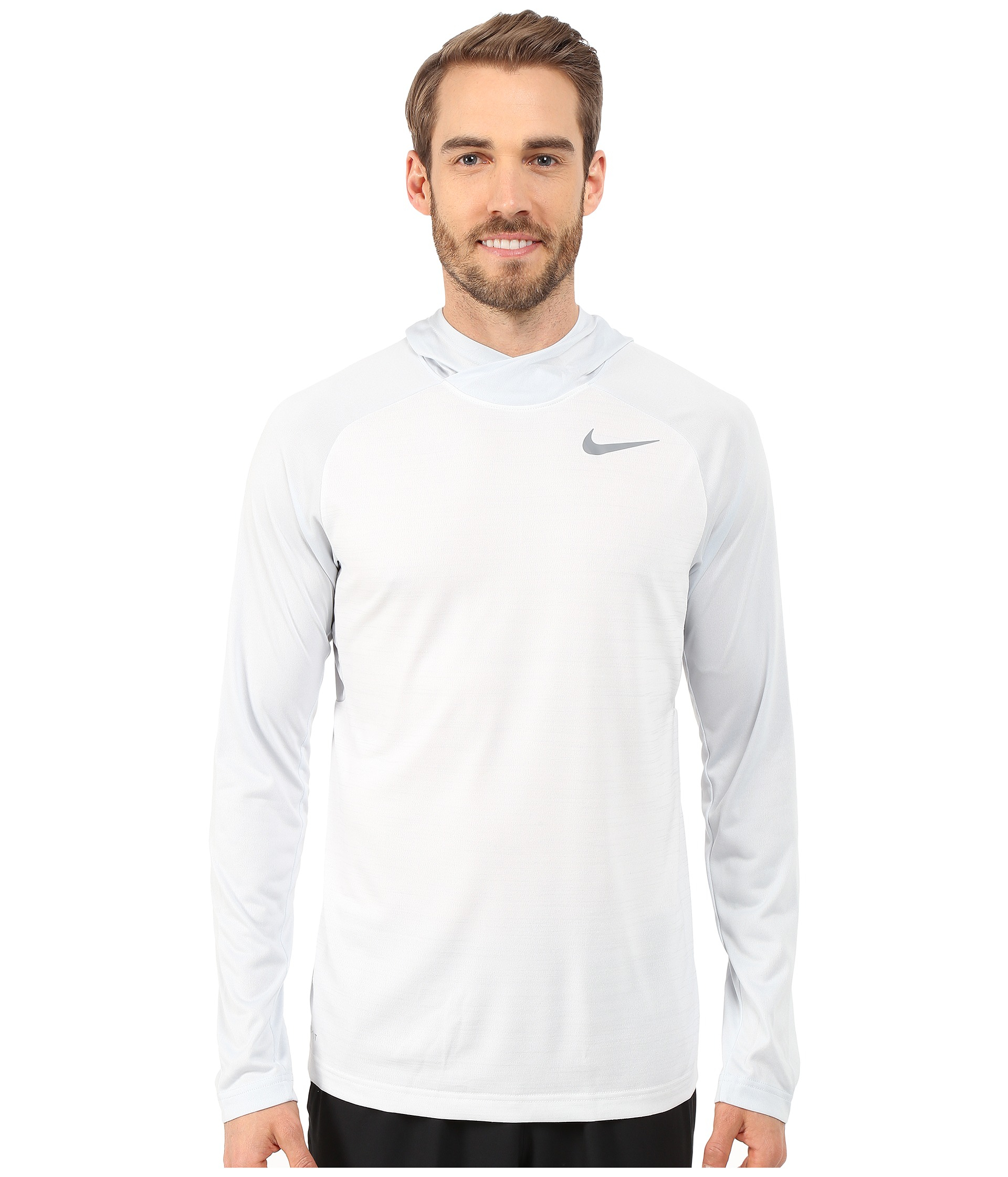 4541cc88 Nike Dri-fit™ Touch Long Sleeve Hoodie in White for Men - Lyst