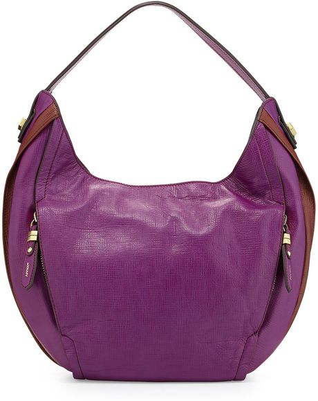 Oryany Kayla Colorblock Hobo Bag in Purple