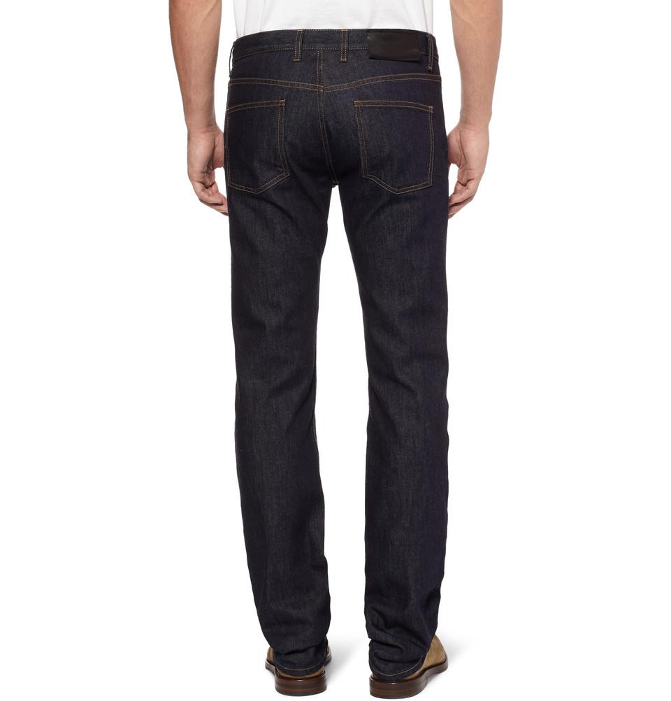Lanvin Regular-Fit Rinsed Denim Jeans in Blue for Men