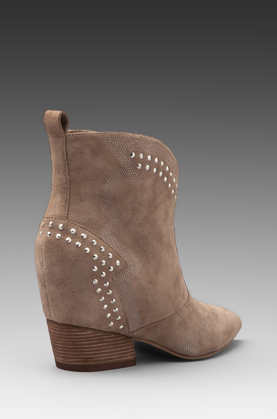Sigerson Morrison Accent Hidden Wedge Bootie In Taupe In