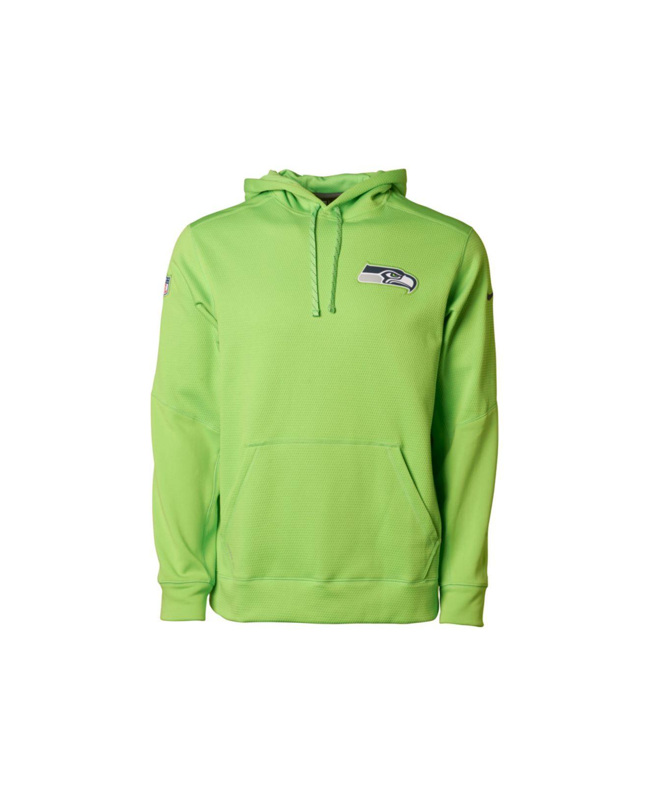 the best attitude 02e47 66a31 Nike Green Men'S Seattle Seahawks Ko Chain Hoodie for men