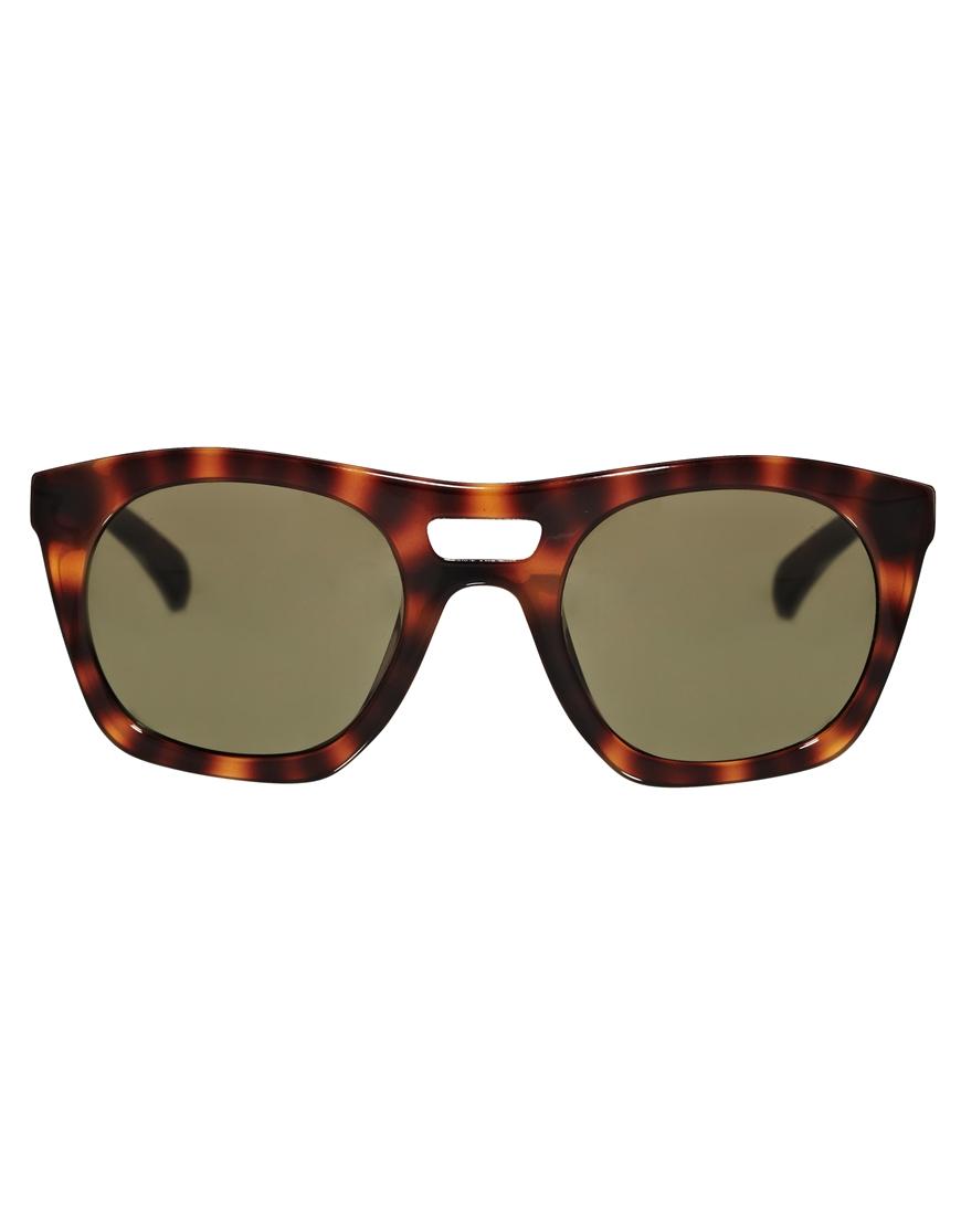 Calvin Klein Jeans D Frame Sunglasses in Brown ...