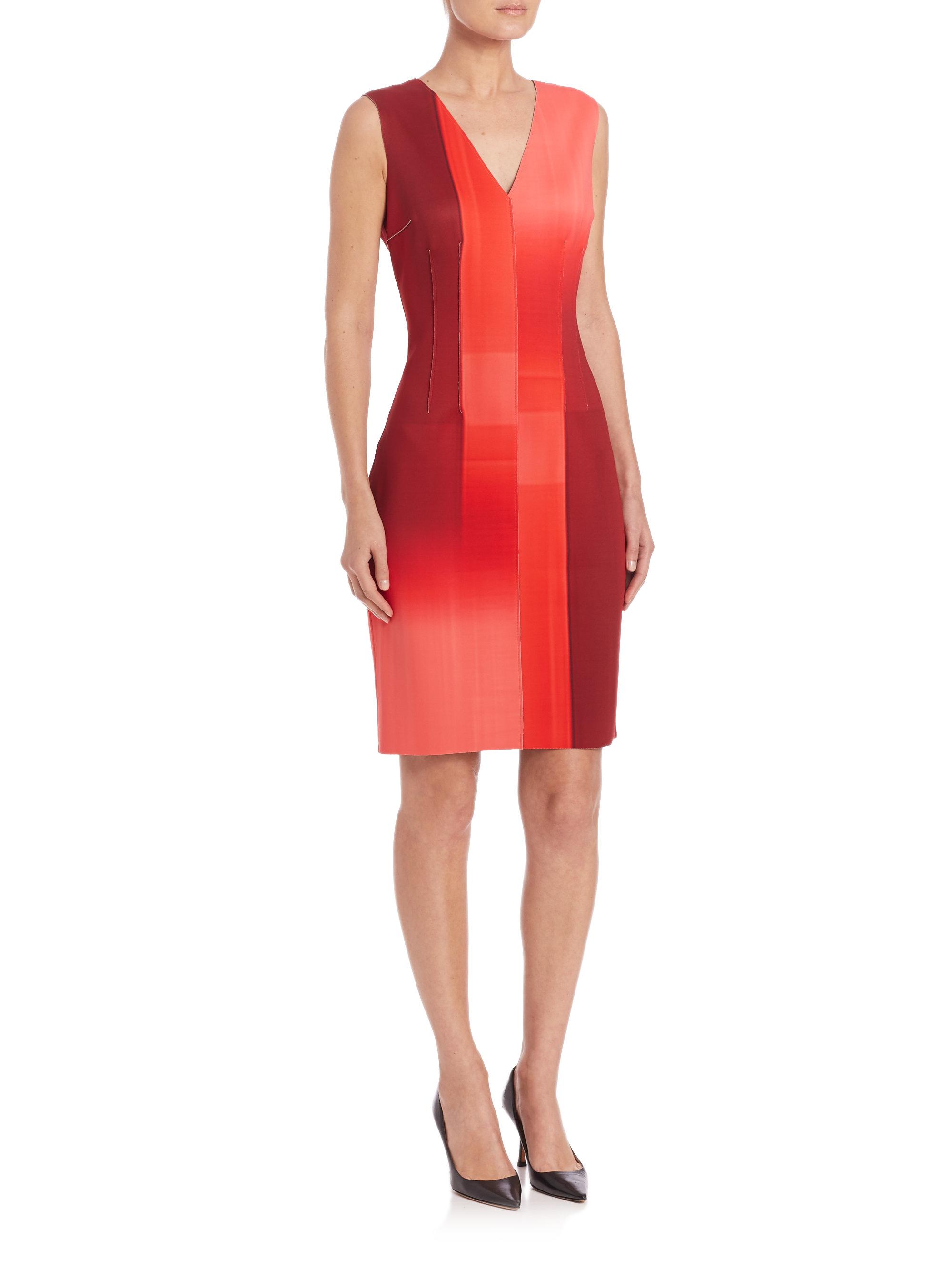 d0ccfd2f9850 Elie Tahari Gwenyth Dress in Red - Lyst