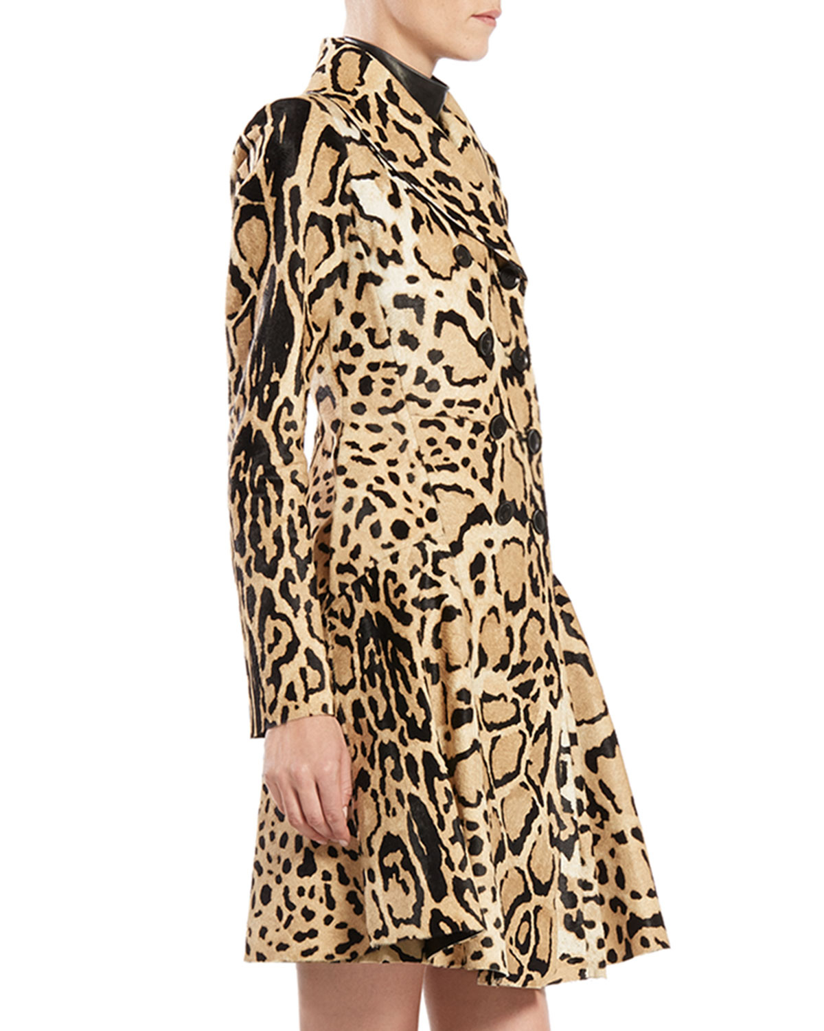 c97efce7172c Gucci Leopard Print Double-breasted Wool Coat - Lyst