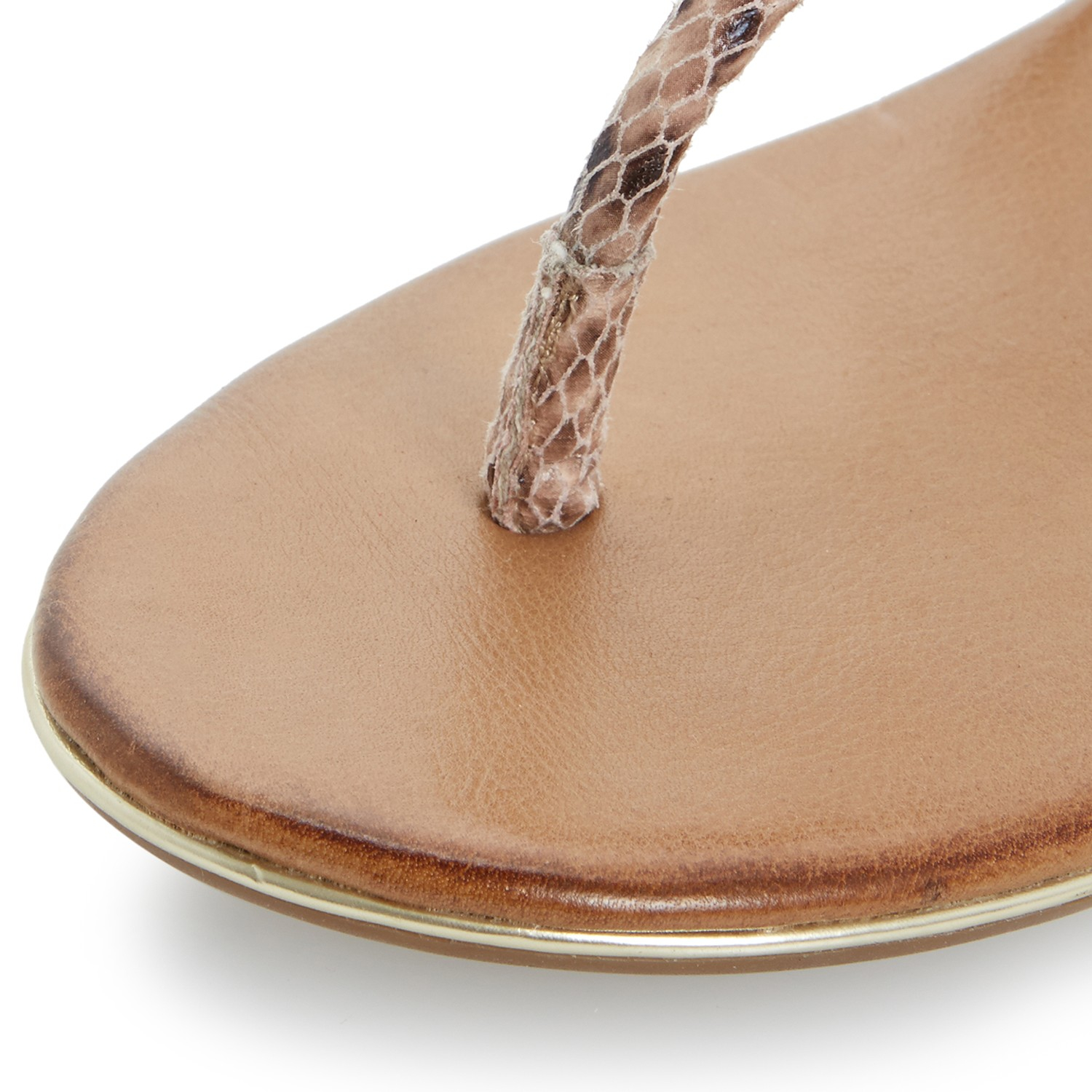 95ae555be85134 Dune Lilypad Jewelled Toe Post Leather Sandals - Lyst