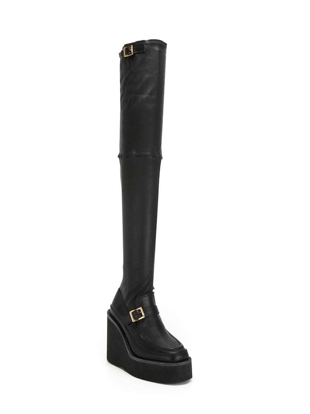 Sacai Black Over-the-Knee Sock Rain Boots 6Ts07