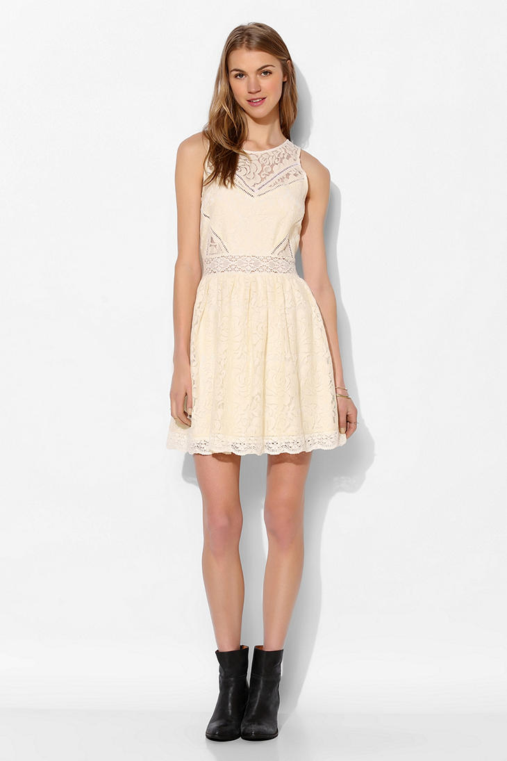 Lyst Kimchi Blue Bella Lace Fit Flare Dress In White