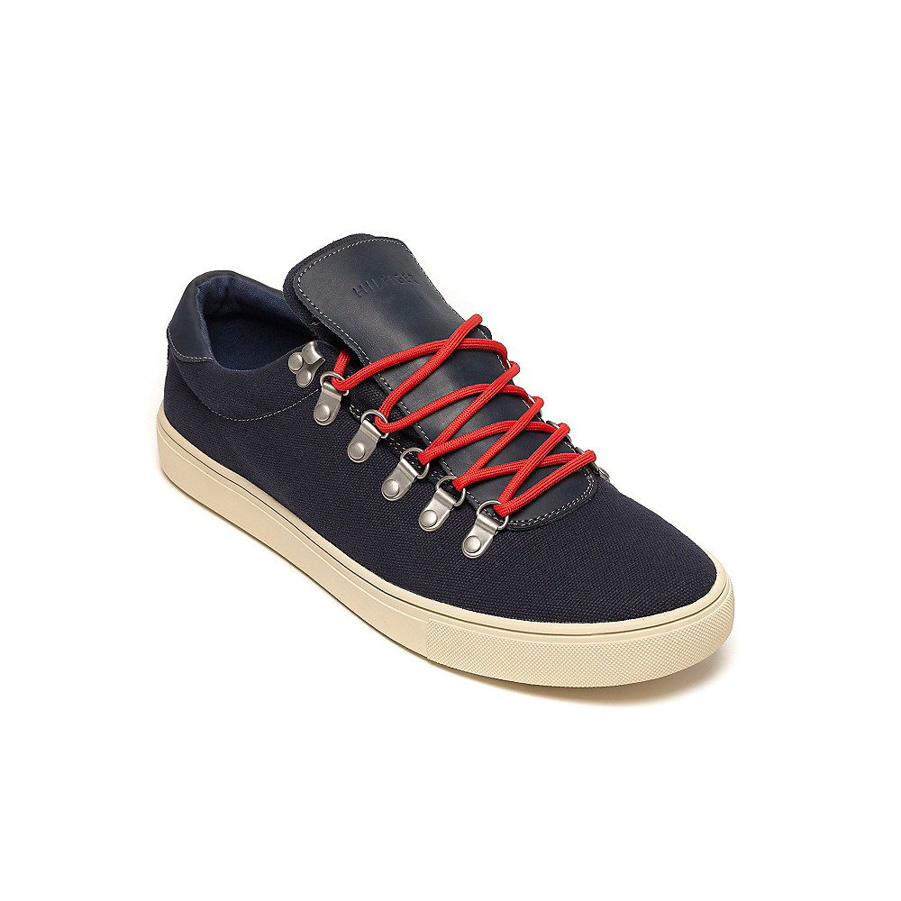 tommy hilfiger casual sneaker in blue for men peacoat lyst. Black Bedroom Furniture Sets. Home Design Ideas