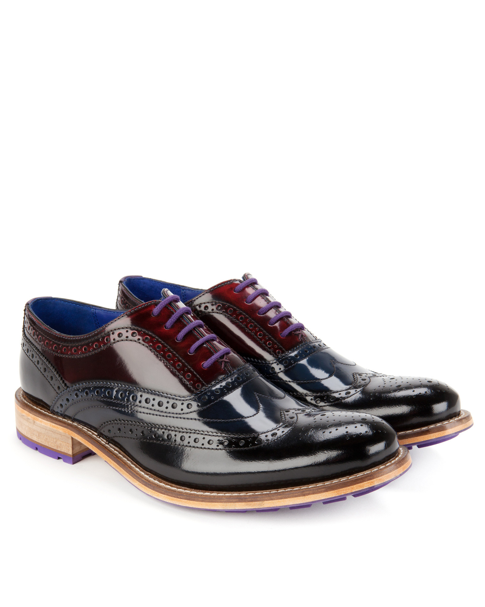 Ted Baker Dress Shoes With Blue Laces