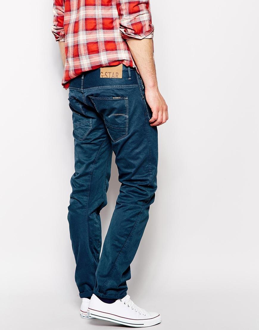 star raw g star jeans arc 3d slim fit color denim in blue for men. Black Bedroom Furniture Sets. Home Design Ideas